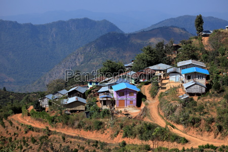 the city kalaw in myanmar