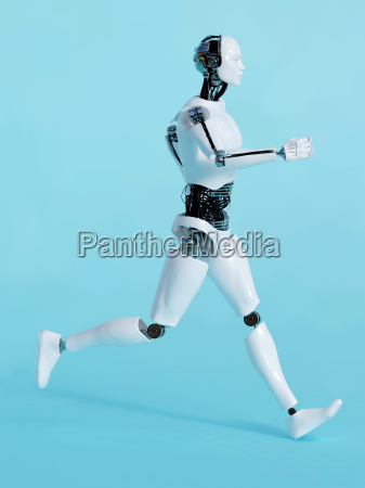 robot man running 2