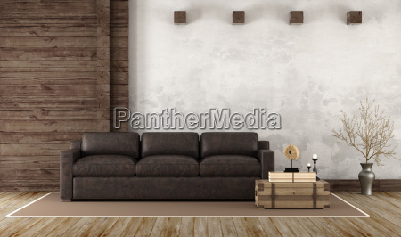 home interior in rustic style