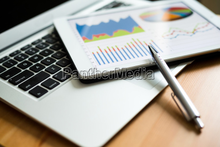 business analytic with tablet pc and