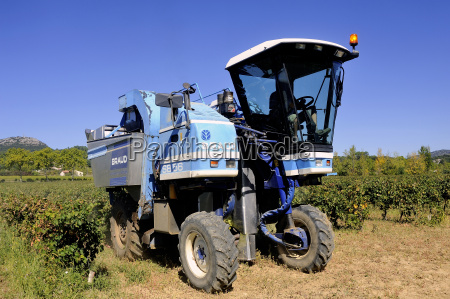 the harvest with machines