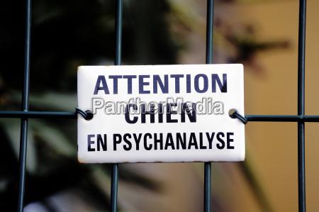 warning dog in psychoanalysis