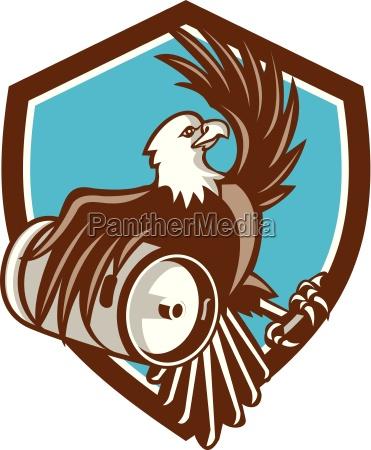 american bald eagle beer keg crest