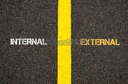 antonym concept of internal versus external