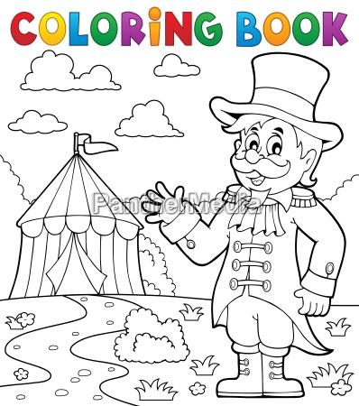 coloring book circus ringmaster theme 2
