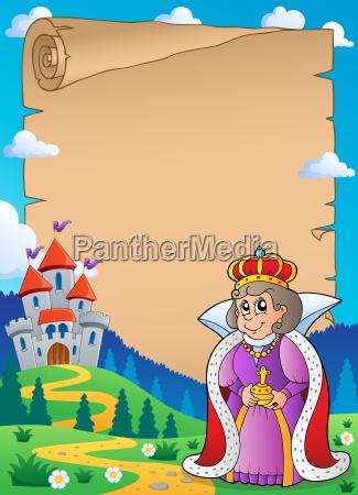 parchment with queen near castle 2