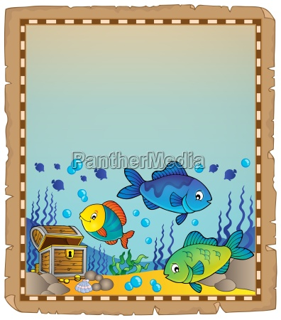 parchment with underwater theme 9