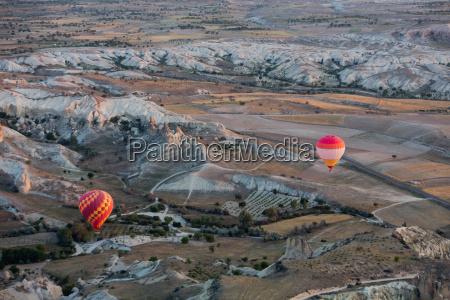 hot air baloon over cappadocia at