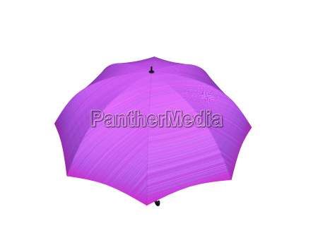 pink umbrella feigestellt