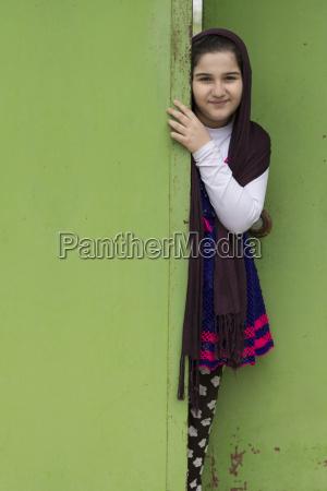 portrait of a beautiful muslim girl