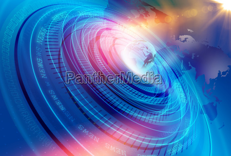 graphical modern digital world news studio