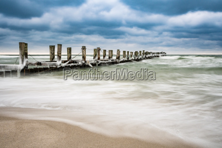groyne on the baltic sea coast