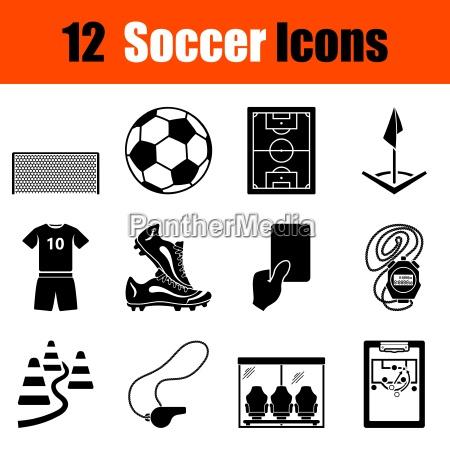 set di icone di calcio