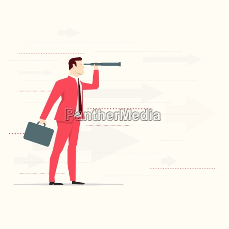 red suit businessman