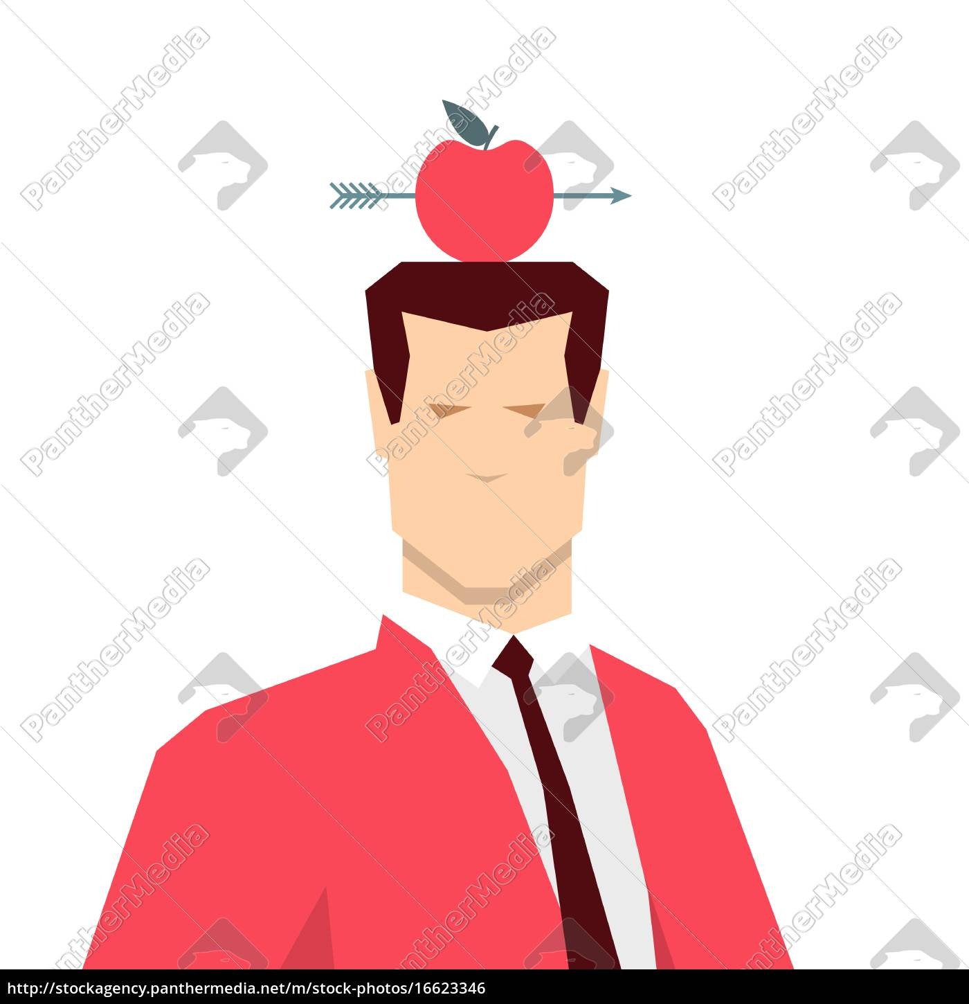 red, suit, businessman. - 16623346