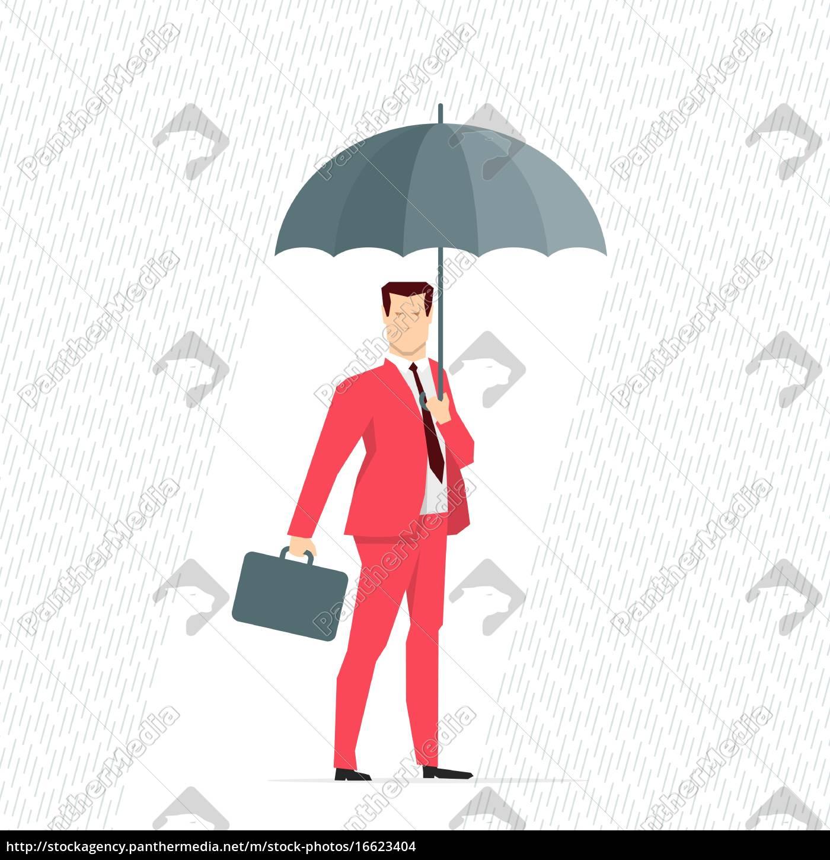 red, suit, businessman. - 16623404