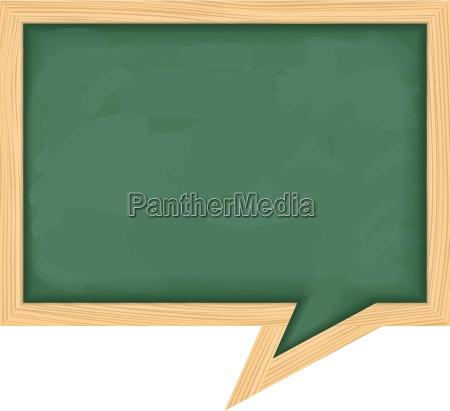 blackboard speech bubble