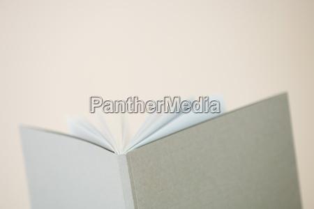 open book close up