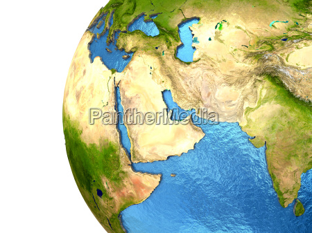 middle east region on earth