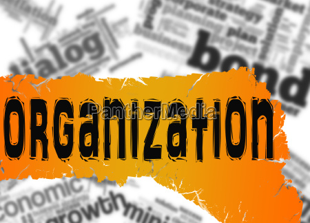 word cloud with organization word on