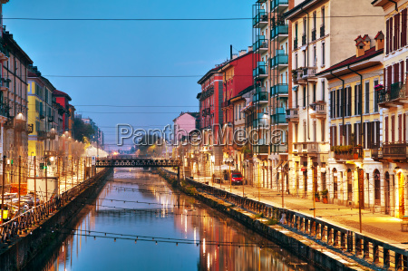the naviglio grande canal in milan