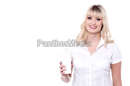 attractive lady holding beverage glass