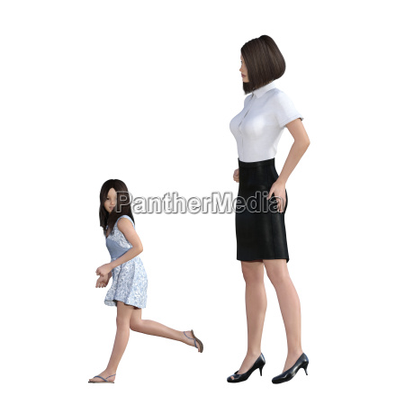 mother daughter interaction of girl in