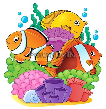 coral reef fish theme image 6