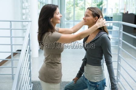 mother and teenage girl together woman