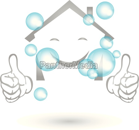 house cleaned logo smile cleaning company