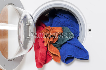 washing machine with cotton wool