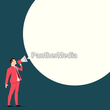 red suit businessman message vector concept