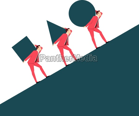 red suit businessman team vector concept