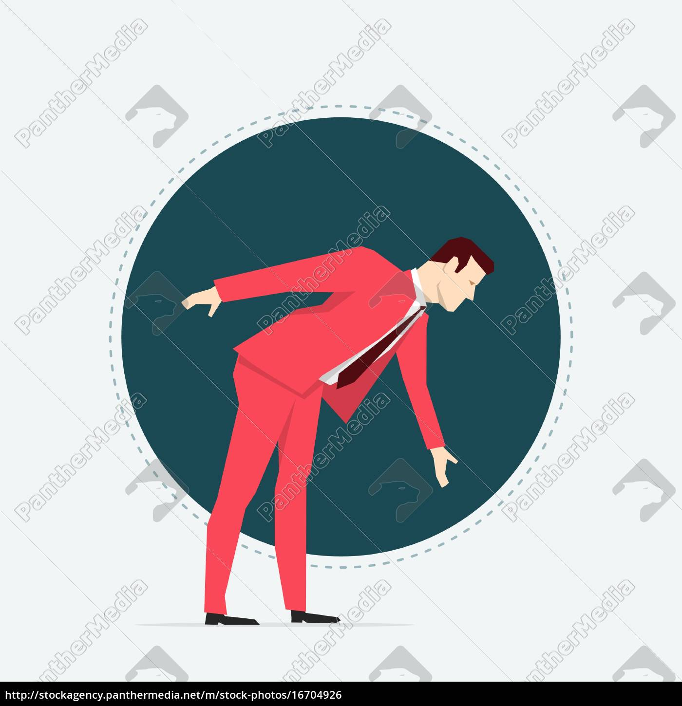 businessman, in, red, suit., flat, style - 16704926