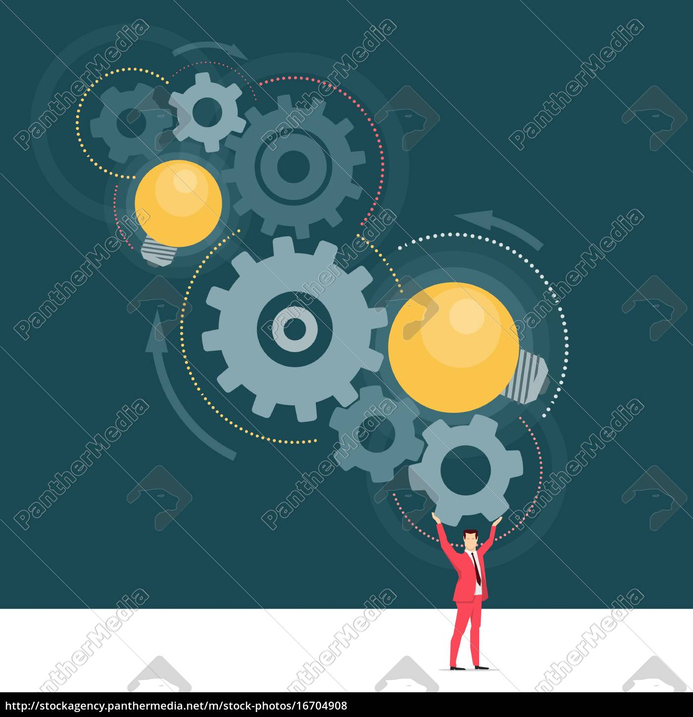 red, suit, businessman., great, ideas., vector - 16704908