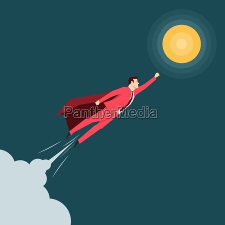 red, suit, businessman., super, hero., vector - 16704930