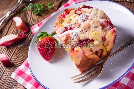 rhubarb strawberry brioches