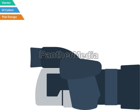 flat design icon of premium photo