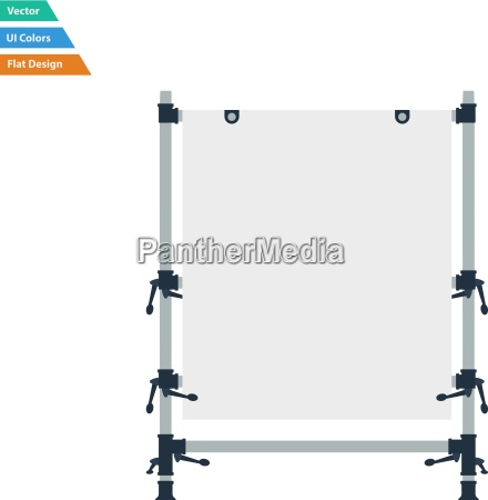 flat design icon of table for