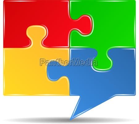 puzzle speech bubble