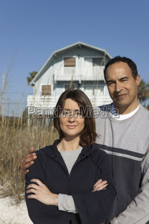 mature couple standing in front of