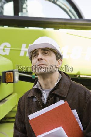property developer in hard hat portrait