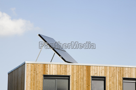 apartment building with solar panel