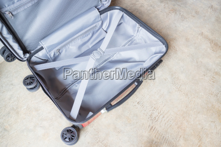 opening suitcase for packing the cloth
