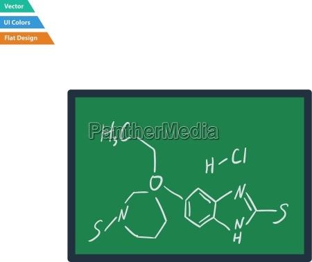flat design icon of chemistry formula