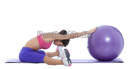 stay fit with a swiss ball