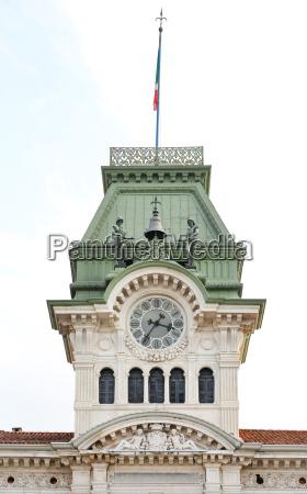 trieste clock tower