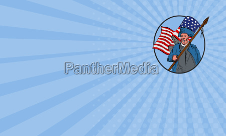 business card american patriot carrying usa