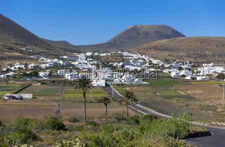 spain canary islands lanzarote village maguez