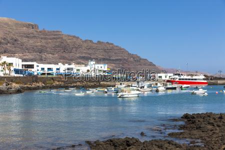 spain canary islands lanzarote fishing village